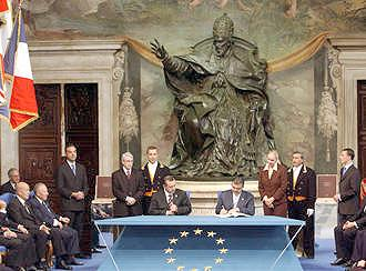 The signing Of The European Union Constitution